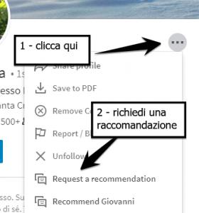 Come chiedere una raccomandazione LinkedIn